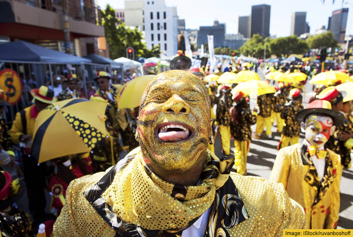 A Cape minstrel performance during the annual Cape Town carnival